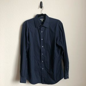 Navy Striped Button Down from Apt. 9, sz M